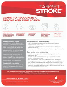 Time lost is brain lost. Know the #warningsigns of a #stroke. Call 911.