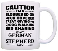 Dog Lover Gifts for Women Crazy German Shepherd Lady Dog Mom Gift Coffee Mug Tea Cup White ** Hurry! Check out this great item : Coffee Mugs