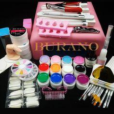 Nail tools 36W UV GEL Lamp & 12 Color UV Gel Practice Fingers Cutter Nail Art Tool Kit Set #001set manicure set