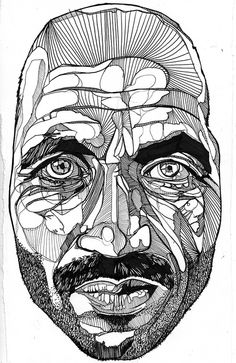 fella - Ink Drawing by luke-dixon-art, via Flickr