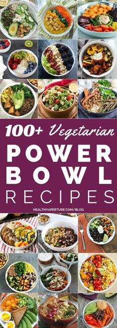 These Healthy Vegetarian Power Bowl recipes are packed with protein and make a quick easy meatless