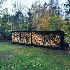 Outdoor Firewood Rack, Firewood Shed, Firewood Storage, Outdoor Storage, Lean To Shelter, Seasoned Wood, Cozy Cabin, Gras, Construction