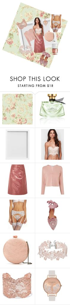 """The Prettiest Underpinnings: To be Seen"" by lindsaywassel ❤ liked on Polyvore featuring Bulgari, Pottery Barn, Bottega Veneta, L.K.Bennett, Betsey Johnson, Aquazzura, Serpui, Aurélie Bidermann, Olivia Burton and Nails Inc."