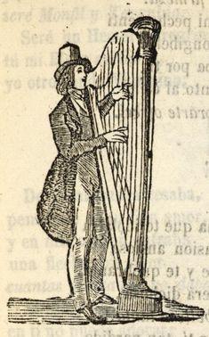 Hombre tocando el arpa