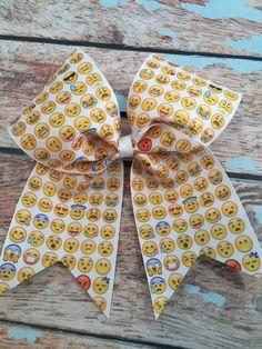 Emoji Cheer Bow Softball Bow Team bows by MiniExpressions on Etsy