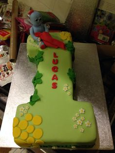 Iggle Piggle cake for Lucas' first birthday