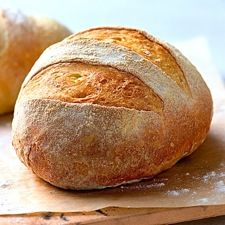 No-Knead Crusty White Bread.- The most basic of all no-knead loaves, this is a wonderful way to get into yeast-bread baking. The easy stir-together dough rests in your refrigerator, developing flavor all the time, till you're ready to bake.
