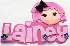 Shop for on Etsy, the place to express your creativity through the buying and selling of handmade and vintage goods. Foam Crafts, Crafts To Do, Diy Crafts, Moldes Para Baby Shower, 3d Frames, Lalaloopsy Party, Name Banners, So Little Time, Little Princess