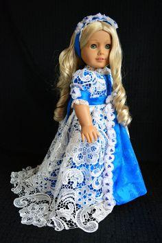 "Regency Jane Austen Dress Gown for 18"" American Girl, Journey Girls from MHD Pattern -Luminaria"
