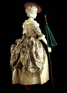 robe a la polonaise, 1775-80
