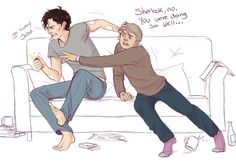 really good drawing of a sad moment. I wonder if Sherlock will have taken up smoking again when he comes back...