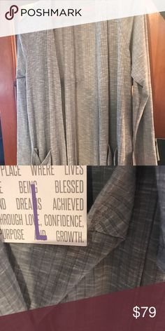 Lularoe Sarah sweater cardigan Awesome gray sweater. Will match everything. Bought a couple of these Sarah's in various sizes. This one is too big for me. LuLaRoe Sweaters Cardigans
