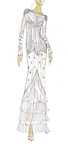 Temperley London by Alice Temperley  AW11 sketch