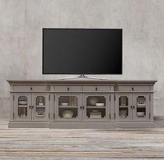 "St. James Glass Media Console RH $895 60""W x 22""D x 32""H"