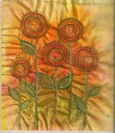 embroidery  - Pauline's flowers