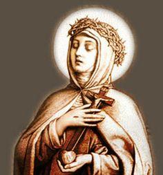 Image of St. Veronica Giuliani; b1660, d.1727, feast july9, capuchin mystic who had many spiritual gifts