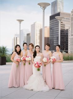 #pink #bridesmaidsdresses @weddingchicks