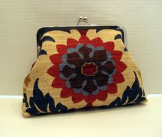 Floral Print Frame Clutch by Nataty on Etsy