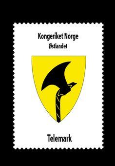 Kongeriket Norge • Østlandet • Telemark fylke
