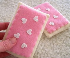 Felt Play Food - Strawberry Toaster Pastries