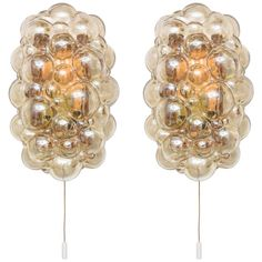 """Pair of Mid-Century Modern """"Bubble-Glass"""" Wall Sconces, Germany, 1960s 1"""