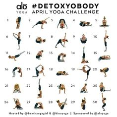 """Announcing the April Yoga Challenge: #DetoxYoBody Hosts: @beachyogagirl & @kinoyoga Sponsored by: @aloyoga  For the month of April, we will focusing on…"""