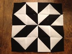 Modern Half Square Triangle Quilt a long Block 2