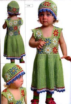 Sweet Little Girl Crochet Dress