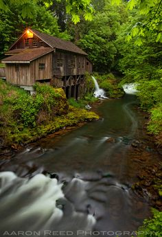 Grist Mill, Washington State just 10 minutes from my house. It's actually a working grist mill and there's a covered bridge over this same creek