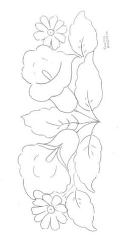 Lily Painting, Fruit Painting, Acrylic Painting Canvas, Fabric Painting, Border Embroidery Designs, Christmas Embroidery Patterns, Hand Embroidery Flowers, Pencil Drawings Of Flowers, Detailed Coloring Pages