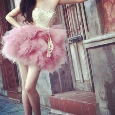 amazing strapless pink dress