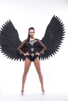 Black Angel Wings, Black Angels, Trending Outfits, Unique, Clothes, Vintage, Etsy, Dark Angels, Outfits