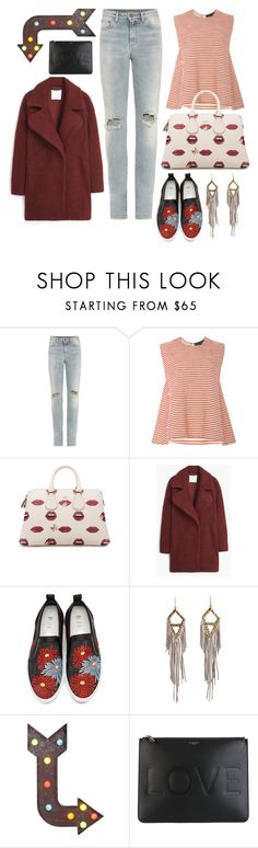 """""""Point me in the right direction."""" by cherieaustin ❤ liked on Polyvore featuring Yves Saint Laurent, Malaikaraiss, Bally, MANGO, MSGM and Givenchy"""