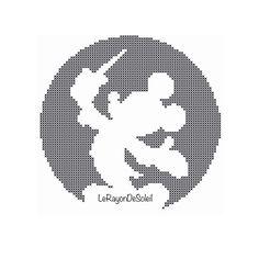 Cross stitch pattern Mickey Mouse Disney door LeRayonDeSoleil