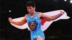 Tatsuhiro Yonemitsu of Japan celebrates his victory against Sushil Kumar of India during the Men's Freestyle 66 kg Wrestling gold medal fight on Day 16 of the London 2012 Olympic Games at ExCeL Olympic Wrestling, Olympic Games, 2012 Summer Olympics, Olympic Athletes, Sports Training, London Photos, Victorious, The Man, Japan