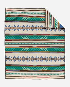 Buy the Turquoise Ridge wool blanket woven by Pendleton Woolen Mills. Made in the USA. Southwest or American Indian design. Pattern Definition, Southwestern Blankets, Pendleton Woolen Mills, Pendleton Blankets, Indian Blankets, Wool Blanket, Weighted Blanket, Turquoise Stone, Outdoor Blanket