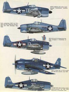 Squadron/Signal No. Us Navy Aircraft, Ww2 Aircraft, Fighter Aircraft, Military Aircraft, Fighter Jets, Grumman F6f Hellcat, Airplane Art, Ww2 Planes, World War Two