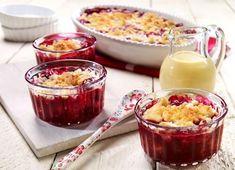 Fruchtiger Crumble als leckeres Dessert für kalte und warme Tage