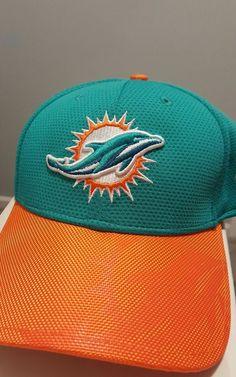 fa79a5bde4b Miami Dolphins Fitted Hat NWT S M New Era NFL Football Orange Green Cap   NewEra