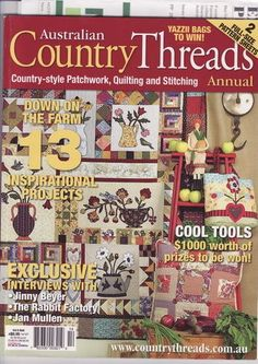 australian country threads 81 pages 2006 pattern pages included 2 series quilts - Álbumes web de Picasa