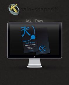 Jaku Toys #business #card by Koalo Shapes --- Jaku Toys is a wholesale online cosplay shop.