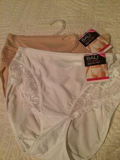 NWT Lot of 2 Bali Lace Brief Underwear Tan/White Size 6 | eBay