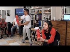 Game: PUDDLE JUMPER - Minute To Win It with Ping Pong Balls - YouTube
