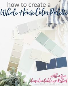 A whole house color palette sets the backdrop for your home, which takes the guess work out of decorating and makes your decor choices effortless. Dark Paint Colors, Interior Paint Colors, Warm Colors, Light Colors, Interior Design, Interior Sketch, Gray Paint, Interior Trim, Colours