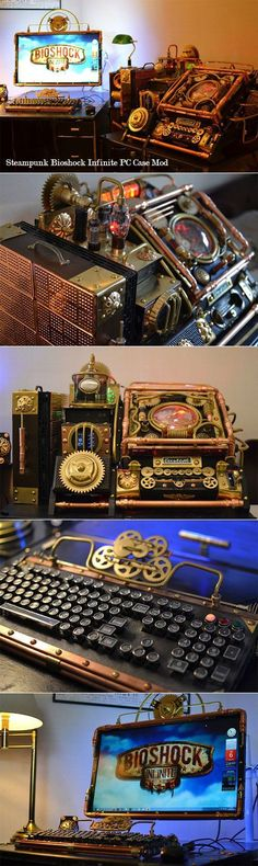 Steampunk computer case - Bioshock should be played only on this beauty.