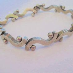 "Stamped .925 Sterling Silver Slightly Heavy Bracelet 8"" L"