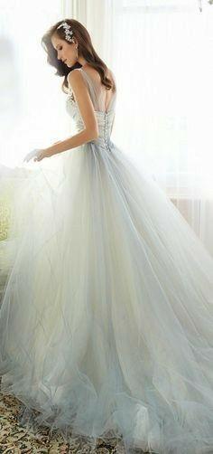 Something Blue Wedding Dresses for Cinderella: Sophia Tolli Wedding Dress for Cinderella 2015 Wedding Dresses, Wedding Attire, Bridal Dresses, Wedding Gowns, Bridesmaid Dresses, Wedding Skirt, Sofia Tolli Wedding Dress, Light Blue Wedding Dress, Hair Wedding
