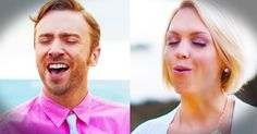 Husband And Wife Sing Chris Medina's 'What Are Words' With Piano Guys | Peter And Evynne Hollens - Music Video