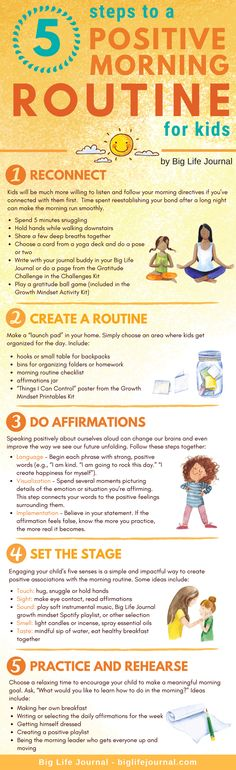 5 Steps to a Positive Morning Routine for Kids A good day starts with a good beg. 5 Steps to a Positive Morning Routine for Kids A good day starts with a good beginning, but once the school ye Parenting Humor, Kids And Parenting, Parenting Hacks, Gentle Parenting, Parenting Styles, Parenting Classes, Foster Parenting, Morning Routine Kids, Raising Kids