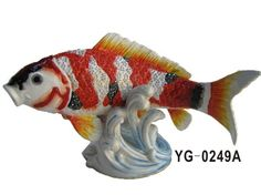 Colorful Neon Sea Fish Meal Crafts with Magnet on the Spindrip Figurine Trinket Box for Home Decoration